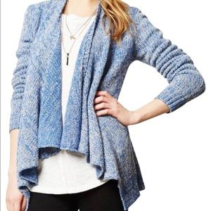 Anthropologie Blue gray Moth open cardigan sweater